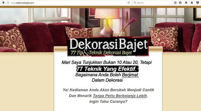 website dekorasi bajet