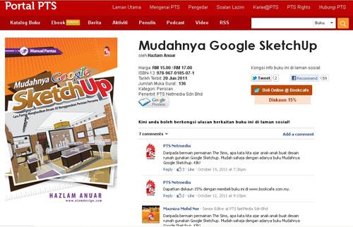Buku Mudahnya Google Sketchup- terbitan PTS Netmedia
