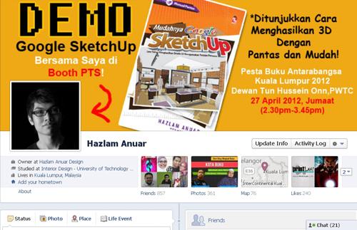 Demonstrasi Google SketchUp Bersama Penulis Hazlam Anuar