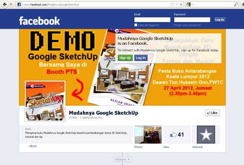 Facebook pages Mudahnyga Google SketchUp