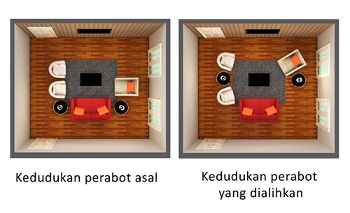 ubah susunan perabot