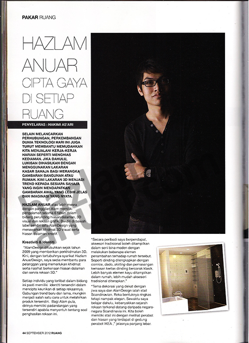 RUANG magazine September 2012_Pakar Ruang