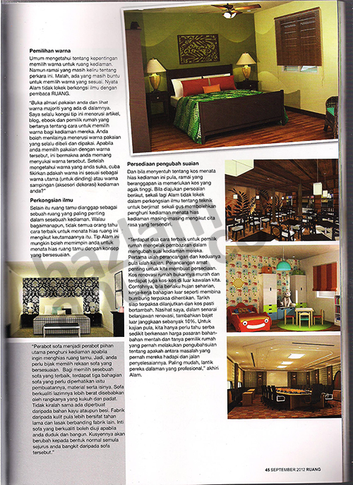 RUANG magazine September 2012_ Bahagian Pakar Ruang