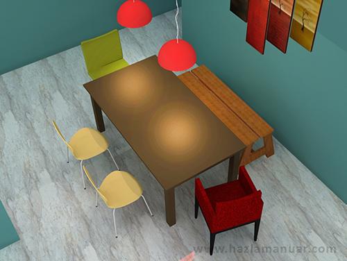 Kerusi makan santai_mix chair