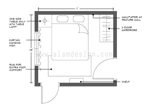 template bedroom design layout