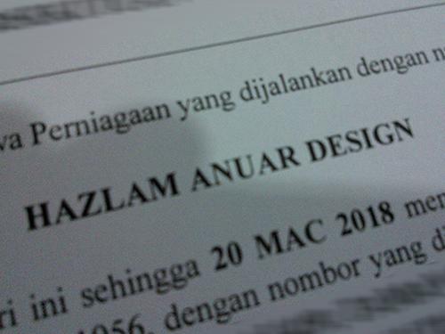 Hazlam Anuar Design