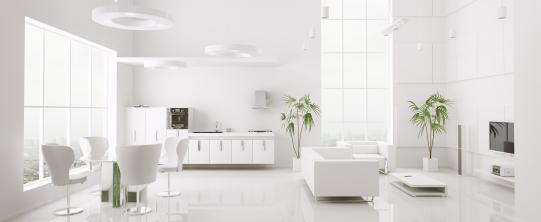 Ruang yang berwarna putih