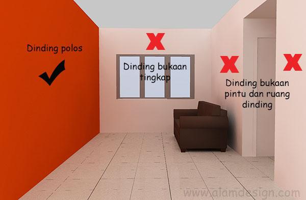 Cara Menentukan Dinding Tumpu Feature Wall