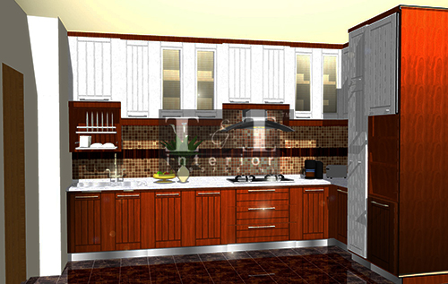 3D visual perspective dapur oleh I & I Interior