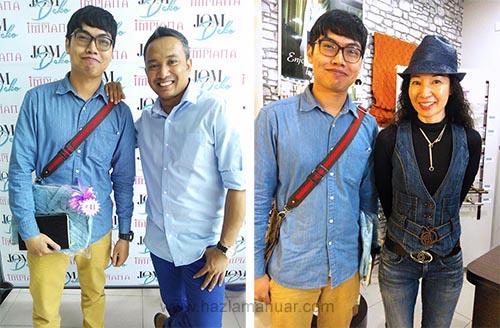 Bersama editor majalah Impiana Cik Li dan Bersama Founder ELYZA'S Elyza Yong