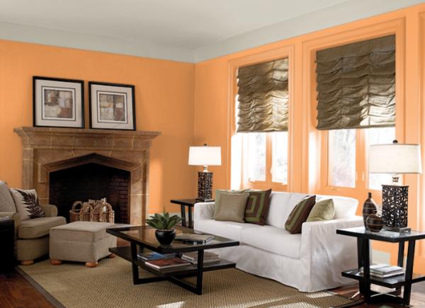 warna ruang tamu_Clarified Orange_behr