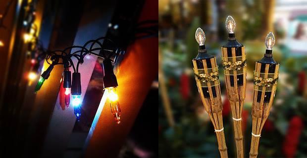 Percahayaan raya. Lampu liplap dan pelita elektrik
