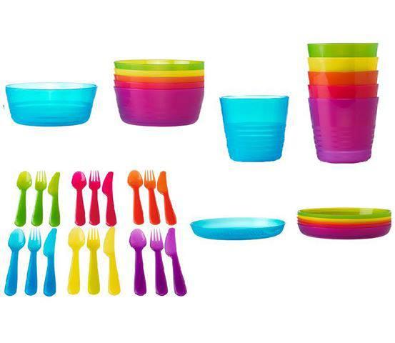 Pinggan mangkuk plastik IKEA