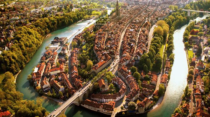 Pemandangan Old Town Bern